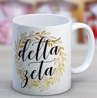 Delta Zeta Wreath Coffee Mug