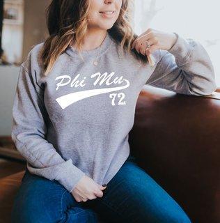 Phi Mu Tail Crewneck Sweatshirts