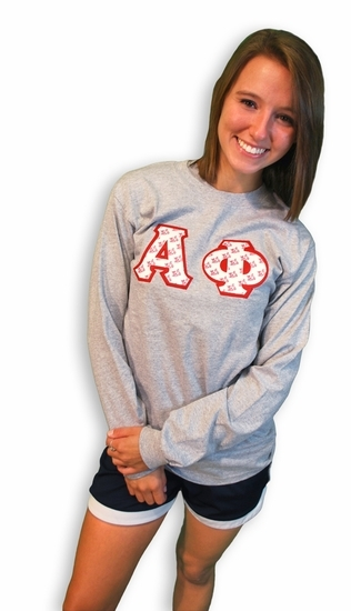 Fraternity or Sorority Lettered Long Tee
