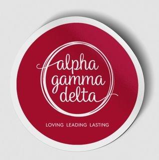 Alpha Gamma Delta Logo Round Decal
