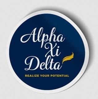 Alpha Xi Delta Logo Round Decal
