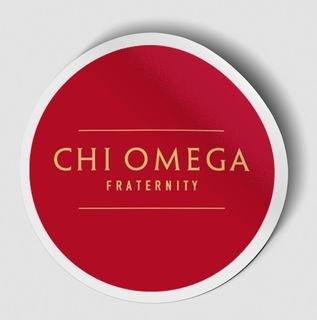 Chi Omega Logo Round Decal