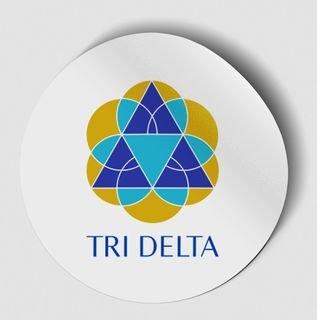 Delta Delta Delta Logo Round Decal