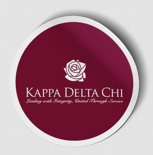 Kappa Delta Chi Logo Round Decal