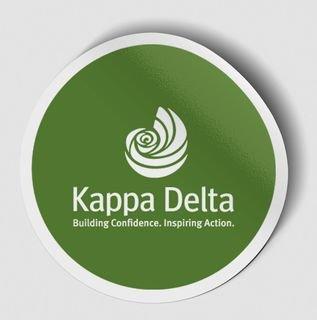 Kappa Delta Logo Round Decal