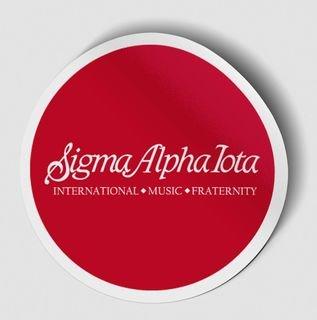 Sigma Alpha Iota Logo Round Decal
