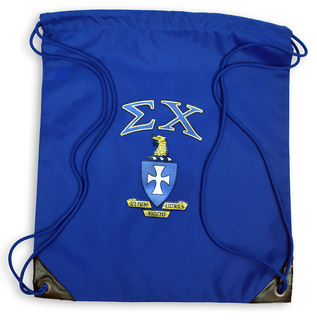 Sigma Chi Crest - Shield Cinch Sack