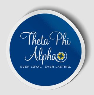 Theta Phi Alpha Logo Round Decal