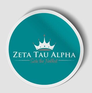 Zeta Tau Alpha Logo Round Decal