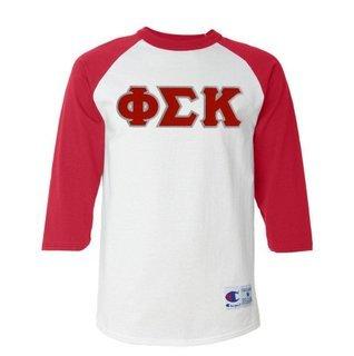 DISCOUNT- Phi Sigma Kappa Lettered Raglan T-Shirt
