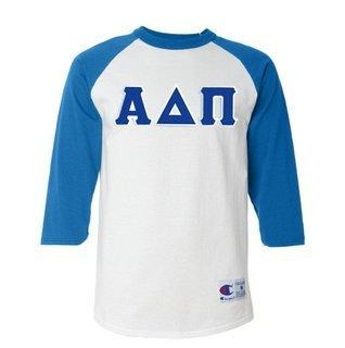 DISCOUNT-Alpha Delta Pi Lettered Raglan Shirt