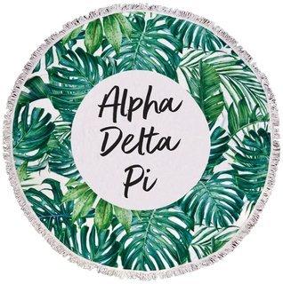 Alpha Delta Pi Palm Leaf Fringe Towel Blanket