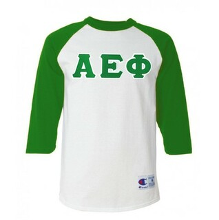 DISCOUNT-Alpha Epsilon Phi Lettered Raglan Shirt