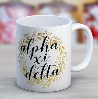Alpha Xi Delta Wreath Coffee Mug