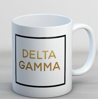 Delta Gamma Faux Foil Coffee Mug
