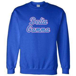 Delta Gamma Twill Name Crewneck Sweatshirt