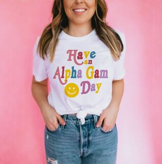 Have An Alpha Gamma Delta Day Comfort Colors Tee