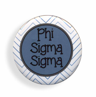 Phi Sigma Sigma Chevron Monogram Button