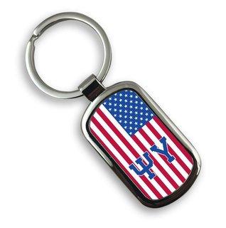 Psi Upsilon USA Flag Rectangle Key Ring