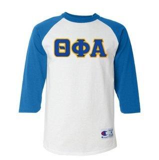 DISCOUNT-Theta Phi Alpha Lettered Raglan Shirt