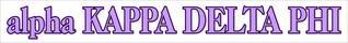 alpha Kappa Delta Phi Long Window Decals Stickers
