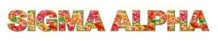 "Sigma Alpha Floral Long Window Sticker - 15"" long"