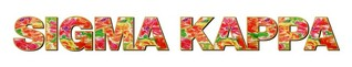 "Sigma Kappa Floral Long Window Sticker - 15"" long"