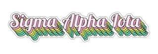 Sigma Alpha Iota Step Decal Sticker