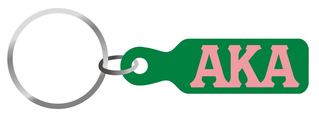 Alpha Kappa Alpha Acrylic Paddle Keychain