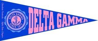 Delta Gamma Wall Pennants