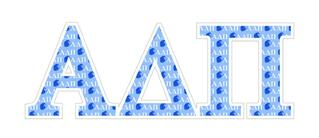 """Alpha Delta Pi Mascot Greek Letter Sticker - 2.5"""" Tall"""
