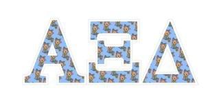 """Alpha Xi Delta Mascot Greek Letter Sticker - 2.5"""" Tall"""