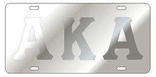 Alpha Kappa Alpha Satin Background, Silver