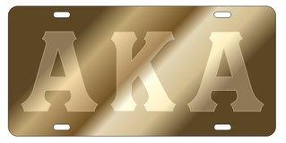 Alpha Kappa Alpha Gold Background, Satin