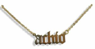 Alpha Chi Omega Old English Necklaces