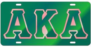 Alpha Kappa Alpha Colored Mirror Background, Green