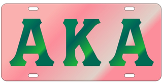 Alpha Kappa Alpha Colored Mirror Plate, Green