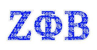 "Zeta Phi Beta Mascot Greek Letter Sticker - 2.5"" Tall"
