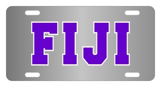 FIJI Fraternity Lettered License Cover