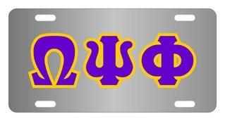 Omega Psi Phi Lettered License Cover