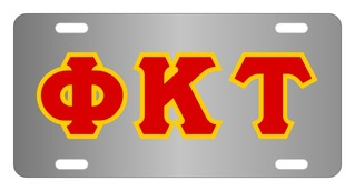 Phi Kappa Tau Lettered License Cover