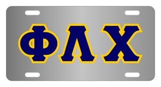 Phi Lambda Chi Lettered License Cover