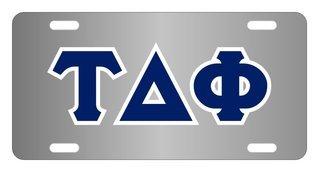 Tau Delta Phi Lettered License Cover