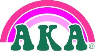 Alpha Kappa Alpha Rainbow Decals