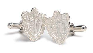 Chi Phi Sterling Silver Crest Cufflinks