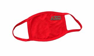 Alpha Chi Omega Applique Face Masks