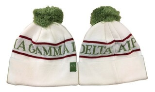 Alpha Gamma Delta Pom Beanie