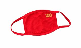 Chi Omega Applique Face Masks