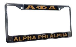 Alpha Phi Alpha Chrome License Plate Frames