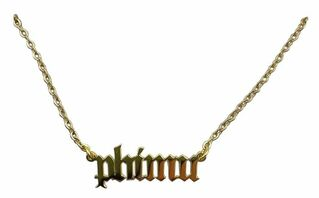 Phi Mu Old English Necklaces